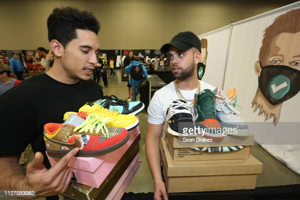 Raymond Nina and Tito Rodriguez display sneaker collections of a combined value of $2000 during SneakerCon 2019 at Fort Lauderdale Convention Center...