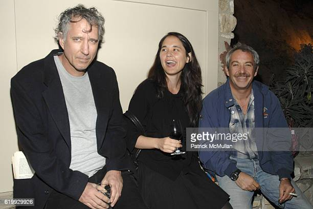 """Raymond Petamon Stacy Benson and Mike Watt attend Katy Rodriguez Spring 09 Presentation and Cocktail Party at John Lautner """"Harpel"""" House on October..."""