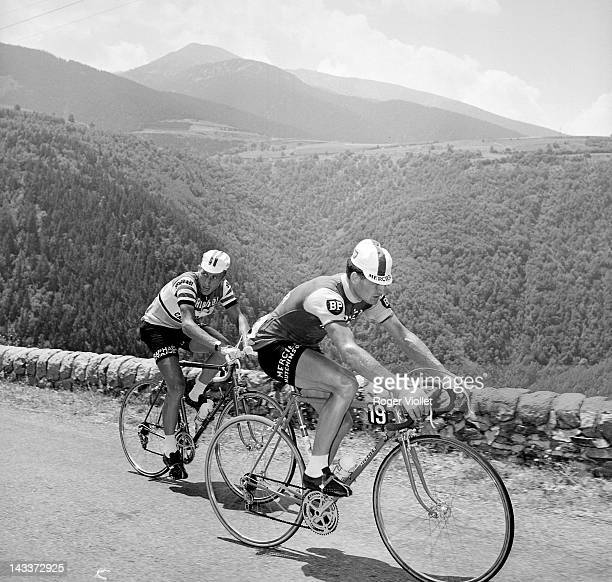 Raymond Poulidor and Jacques Anquetil French racing cyclists 1964 Tour de France