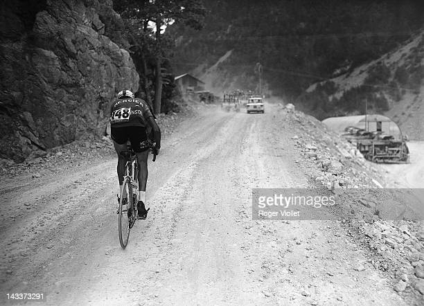 Raymond Poulidor French racing cyclist during a mountain stage of the 1962 Tour de France