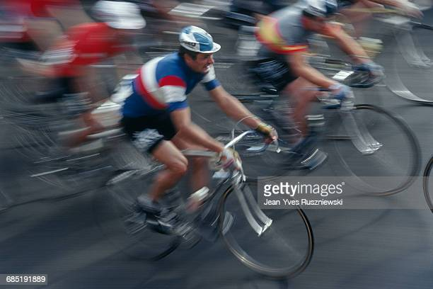 Raymond Poulidor from France riding in a World Road Championship