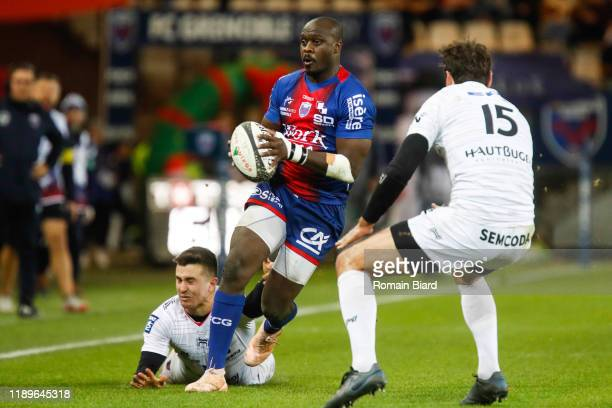 Raymond RHULE of Grenoble and Joffrey MICHEL of Oyonnax during the Pro D2 match between Grenoble and Oyonnax at Stade des Alpes on December 19, 2019...