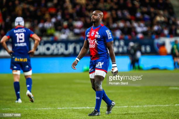 Raymond RHULE of Grenoble during the Pro D2 match between Grenoble and Perpignan at Stade des Alpes on February 13, 2020 in Grenoble, France.