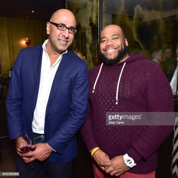 Raymond Roopnarine and Marquis Campbell attend 75 Kenmare Sales Launch VIP After Party Hosted by Fredrik Eklund and Lenny Kravitz at The Blond at 11...