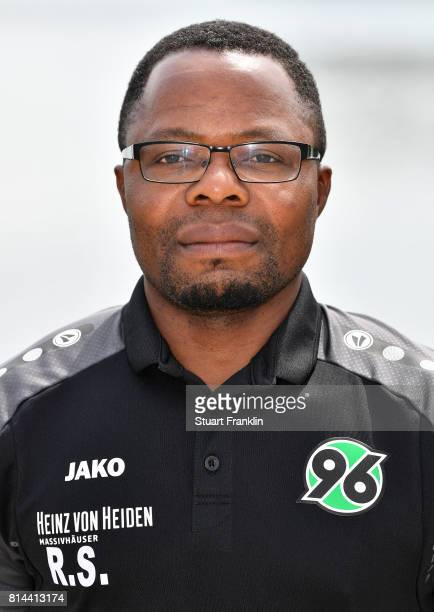 Raymond Saka of Hannover 96 poses during the team presentation at on July 14 2017 in Hanover Germany