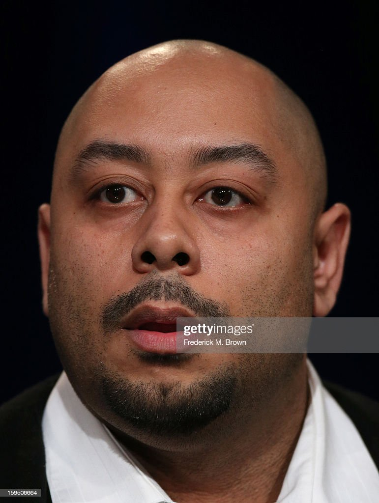 Raymond Santana, featured subject of 'The Central Park Five', speaks onstage during the PBS portion of the 2013 Winter Television Critics Association Press Tour at the Langham Huntington Hotel & Spa on January 14, 2013 in Pasadena, California.