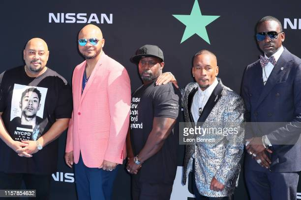 Raymond Santana Jr Kevin Richardson Antron McCray Korey Wise and Yusef Salaam aka the 'Central Park Five' attend the 2019 BET Awards on June 23 2019...