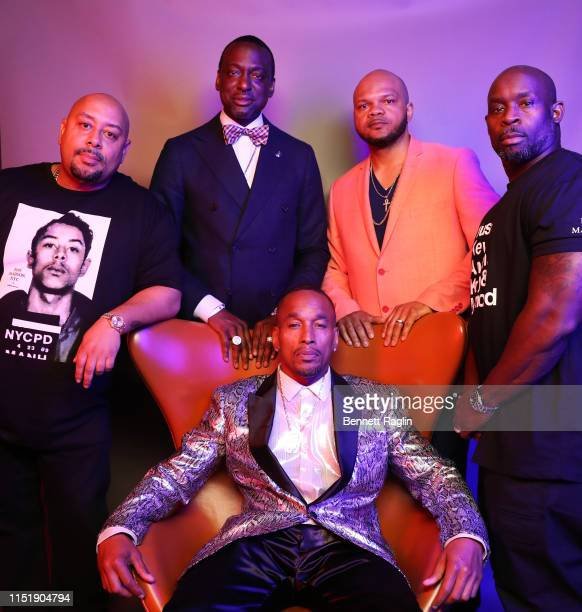 Raymond Santana Jr Yusef Salaam Korey Wise Kevin Richardson and Antron McCray pose for a portrait during the BET Awards 2019 at Microsoft Theater on...
