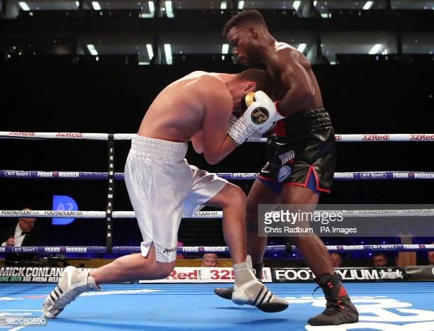 Raymond Sniedze and Darryl Williams in the International SuperMiddleweight Contest at The O2 London