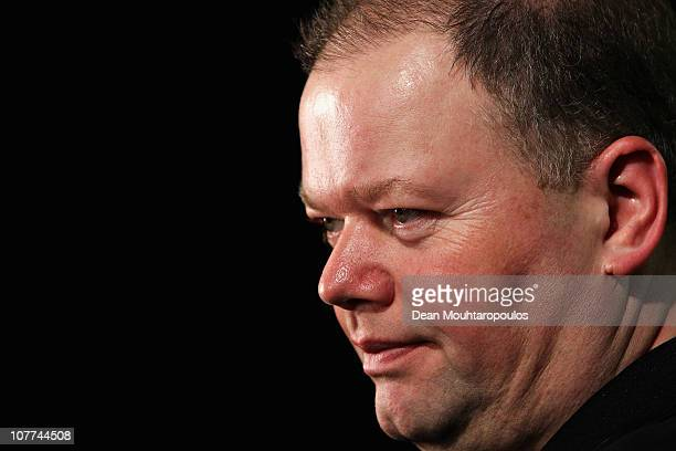 Raymond van Barneveld of Holland also known as Barney poses during day 7 in the 2011 Ladbrokescom World Darts Championship at Alexandra Palace on...