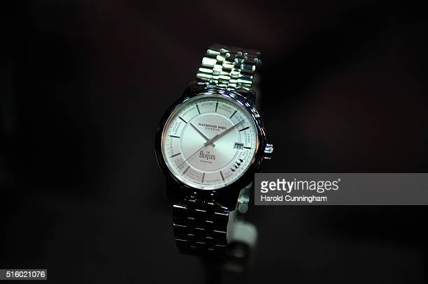 Raymond Weil Beatles watch is displayed during Baselworld on March 16 2016 in Basel Switzerland Held annually Baselworld is the most important watch...