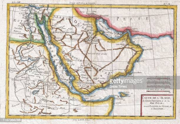 1780 Raynal and Bonne Map of Arabia and Abyssinia Rigobert Bonne 1727 Ð 1794 one of the most important cartographers of the late 18th century
