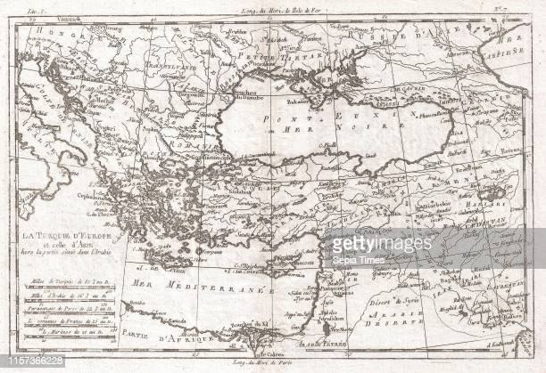 1780 Raynal and Bonne Map of Turkey in Europe and Asia Rigobert Bonne 1727 Ð 1794 one of the most important cartographers of the late 18th century