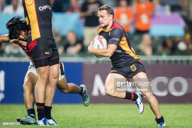 Raynor Parkinson of Germany in action during their World Rugby Sevens Series Qualifier match between Germany and Hong Kong as part of the HSBC Hong...