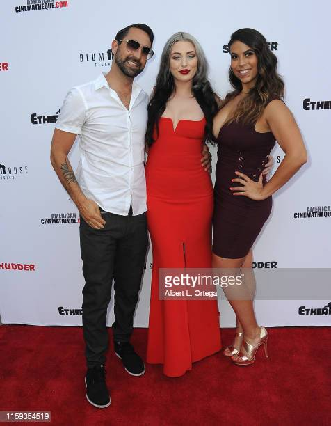 Raynor Shima Blair Bathory and Gigi Saul Guerrero attend the 6th Annual Etheria Film Showcase held at American Cinematheque's Egyptian Theatre on...