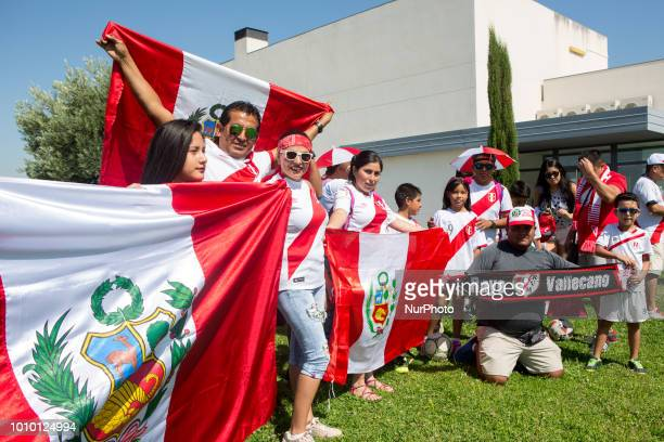 Rayo Vallecano's fans attend peruvian player Luis Advincula's presentation in the Rayo Vallecano soccerteam in Madrid Spanish on 1st August 2018 that...