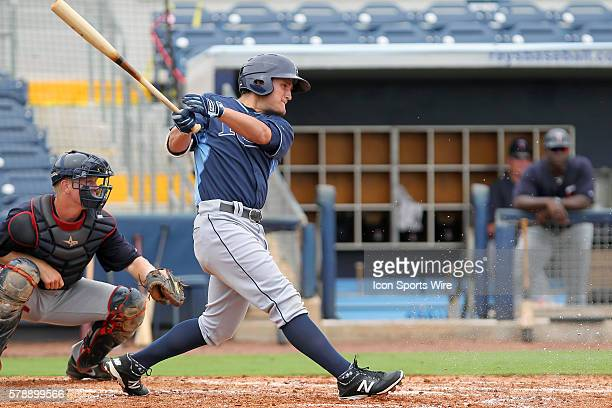 Rays batter Nick Ciuffo during the Florida Instructional League game between the Twins and the Rays at Charlotte Sports Park in Port Charlotte Florida