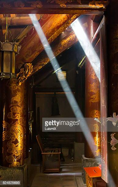 Rays of light in a temple