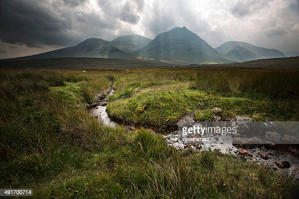 rays of light - scotland stock pictures, royalty-free photos & images