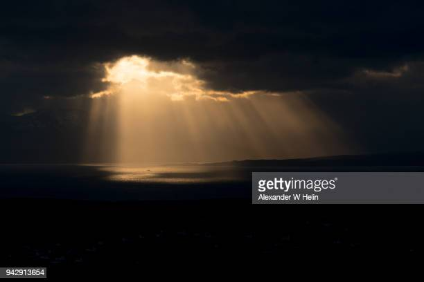 rays of sun above the sea - high contrast stock pictures, royalty-free photos & images