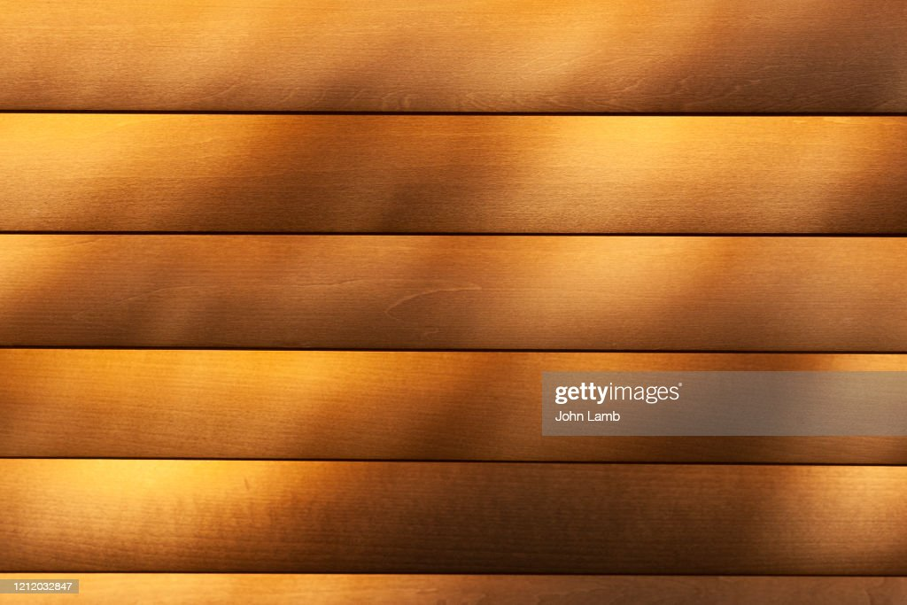 Rays Of Sun On Honey Colourd Wooden Blindsbackground High Res Stock Photo Getty Images