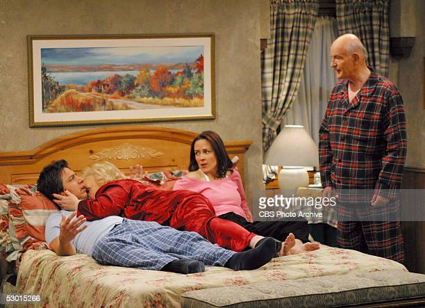 Ray's worst nightmare comes true when Marie hops into bed with him on the May 16 series finale of EVERYBODY LOVES RAYMOND From left to right Ray...