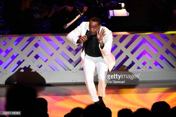 Rayshun LaMarr performs on stage during Lincoln Center Fall Gala at Alice Tully Hall on October 24 2018 in New York City