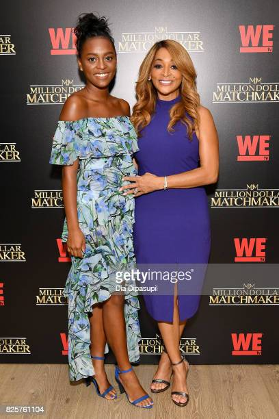 Rayvin Huger and Karen Huger attend WE tv's Exclusive Premiere of Million Dollar Matchmaker Season 2 at the Whitby Hotel on August 2 2017 in New York...