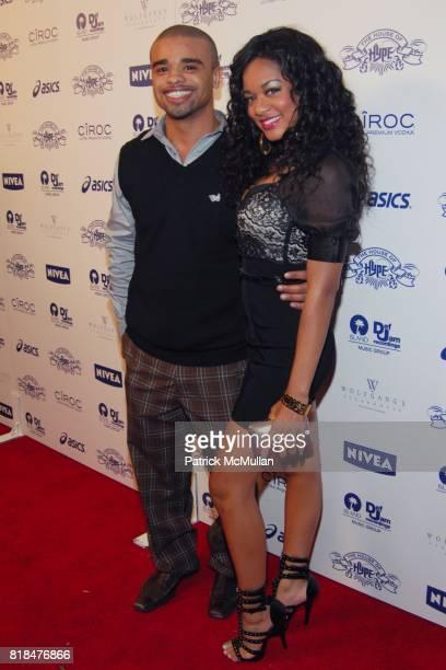 "Raz B Kelli Renee attend Island Def Jam and House of Hype Celebrate Antonio ""LA"" Reid's Annual Post Grammy Soiree at Wolfgang's Steakhouse on..."