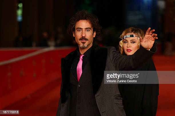 Raz Degan and Paola Barale attend 'Out Of The Furnace' Premiere during The 8th Rome Film Festival at Auditorium Parco Della Musica on November 12...