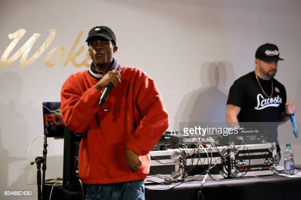 Raz Fresco perform during 'Woke' a hip hop and soul concert at the Harbourfront Centre on February 10 2017 in Toronto Canada