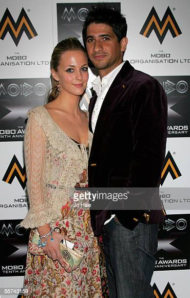 Raza Jaffrey and guest arrive at the MOBO Awards 2005, the tenth anniversary of the annual music event, at the Royal Albert Hall on September 22,...