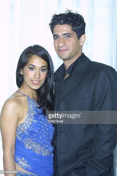 Raza Jaffrey and Preeya Kalidas during 'Bombay Dreams' Photoshoot to Promote The Silver Clef Awards at Intercontinental Hotel in London United Kingdom