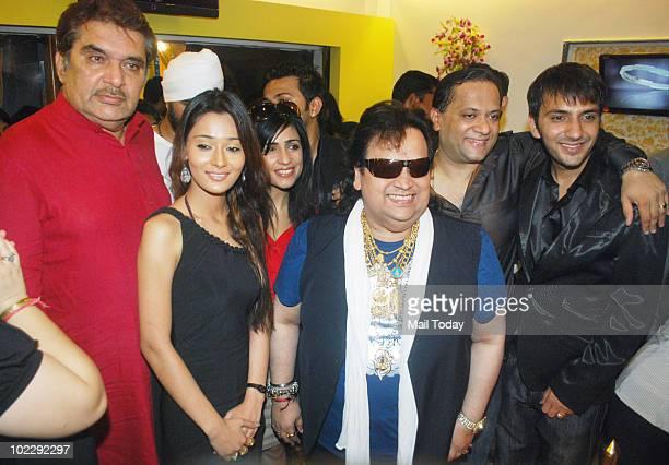 Raza Murad Sara Khan Bappi Lahiri and Ali Merchant at the launch of a SPA in Mumbai on June 21 2010