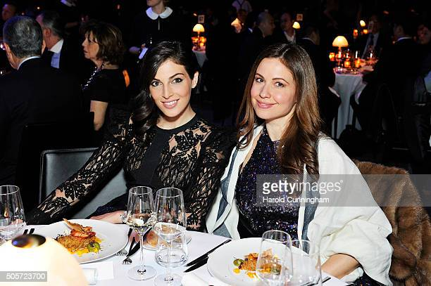 Razane Jammal and Raya Abirached attend the IWC 'Come Fly With Us' Gala Dinner during the launch of the Pilot's Watches Novelties from the Swiss...