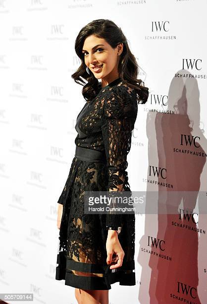 Razane Jammal attends the IWC Come Fly With Us Gala Dinner during the launch of the Pilot's Watches Novelties from the Swiss luxury watch...