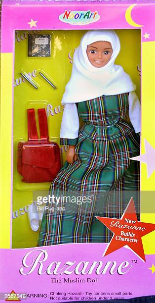 Razanne doll is shown October 13 2003 in Livonia Michigan Razanne a more modest alternative to a Barbie doll is marketed towards Muslim girls The...