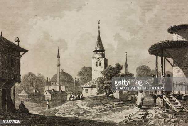 Razgrad Bulgaria engraving by Lemaitre Danvin and Cholet from Turquie by Joseph Marie Jouannin and Jules Van Gaver L'Univers pittoresque Europe...