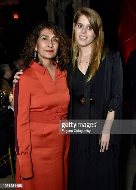 Razia Iqbal and Princess Beatrice of York attend the Third Annual Berggruen Prize Gala at the New York Public Library on December 10 2018 in New York...