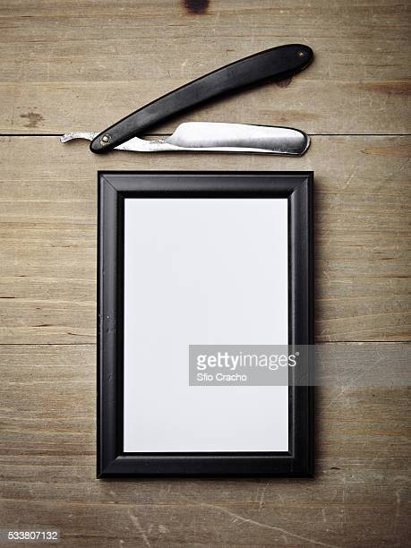 Razor and picture frame