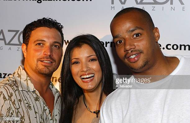Razor Magazine Publisher Richard Botto Kelly Hu and Donald Faison