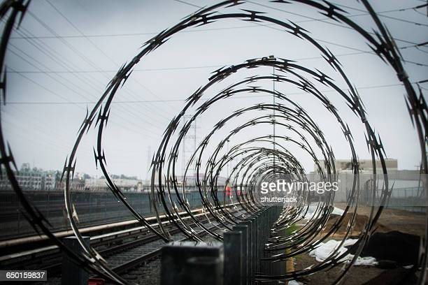 Razor Wire Stock Photos and Pictures | Getty Images