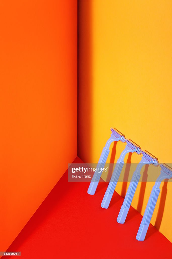 Razors in the Sun : Stock Photo