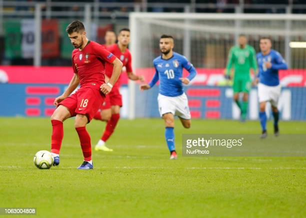 Rben Neves during the Nation League match between Italia v Portogallo in Milan Giuseppe Meazza Stadio on November 17 2018