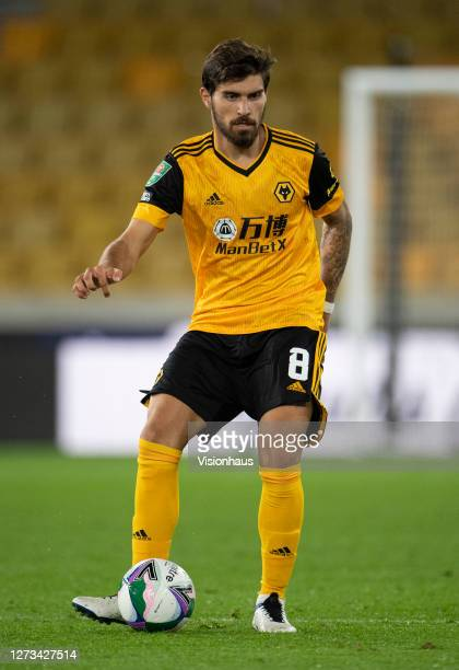 Rúben Neves of Wolverhampton Wanderers during the Carabao Cup second round match between Wolverhampton Wanderers and Stoke City at Molineux on...