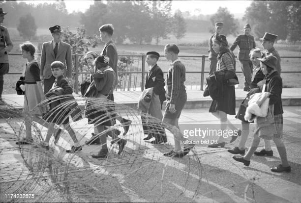 Rückkehr von Schweizer Kindern aus Frankreich bei Boncourt 1944