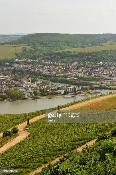 Rüdesheim and Bingen, on the River Rhine, in Germany