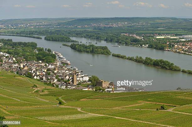 Rüdesheim, on the River Rhine, in Germany