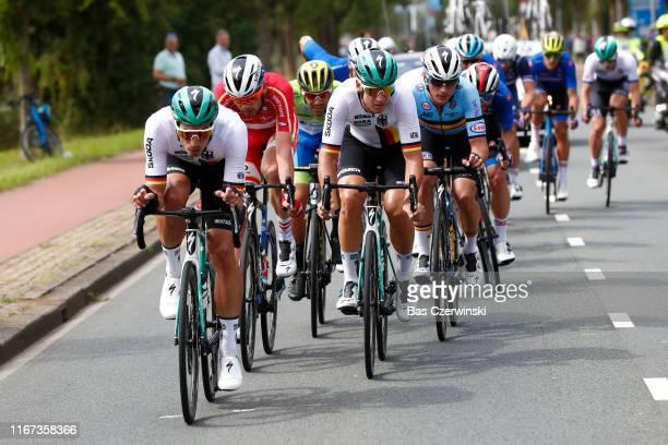 Rüdiger Selig of Germany / Kasper Asgreen of Denmark / Luka Mezgec of Slovenia / Pascal Ackermann of Germany / Yves Lampaert of Belgium / during the...