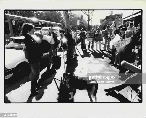 Re Bilton Bombing Outside Police Headquarters In College St Irina Dunn a heavy in the Ananda Marga movement tries to whip her protesting members into...